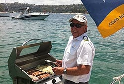 Charter Boats with a BBQ Onboard
