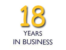 18 Years in Business