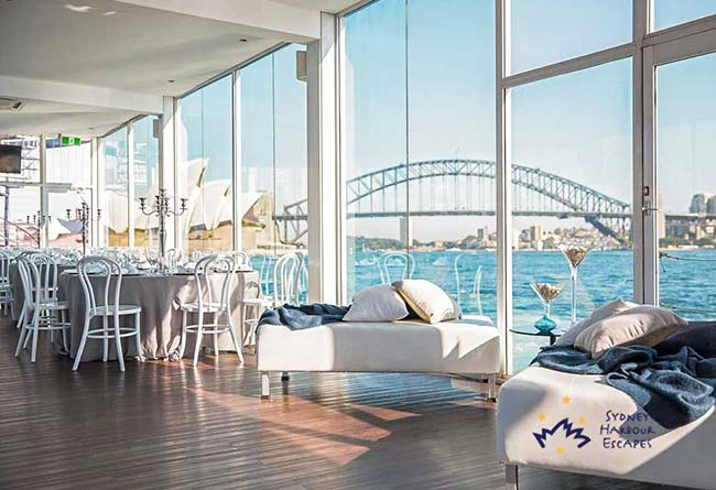 Medium size party boat hire sydney
