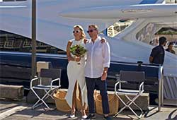 Wedding on board Quantum