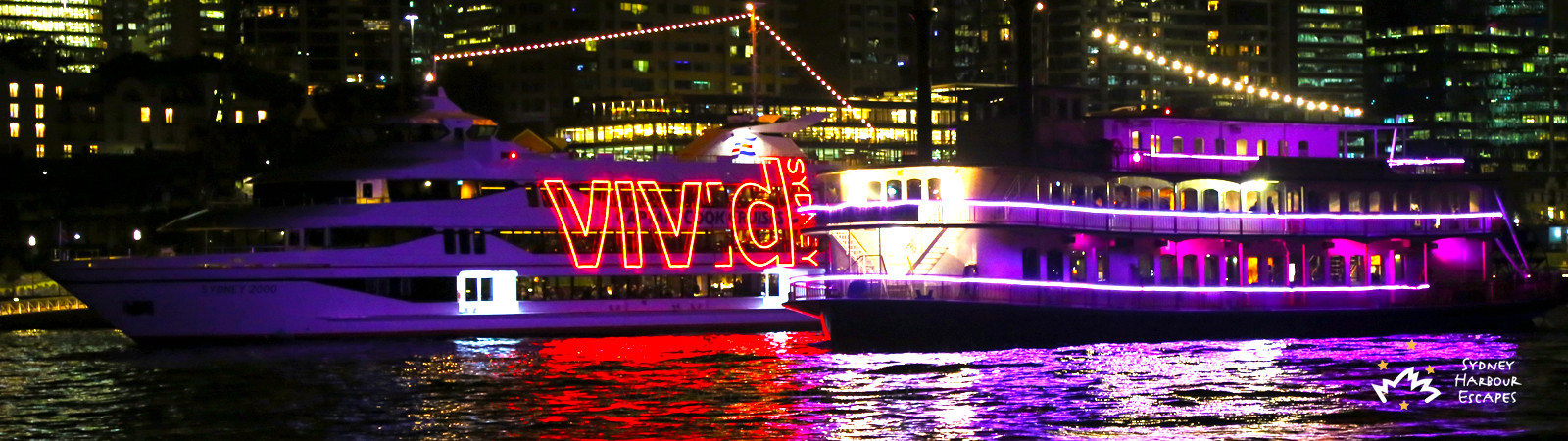 Experience Vivid Cruises Sydney Banner