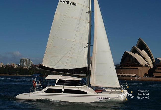CABARET 34' Seawind 1000XL Sailing Catamaran Corporate Charter