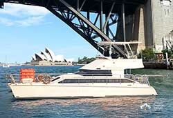 CLOUD 9  40' Tasman Power Catamaran Wedding Cruise Boat