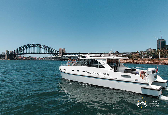 ENTOURAGE Power Catamaran Corporate Charter