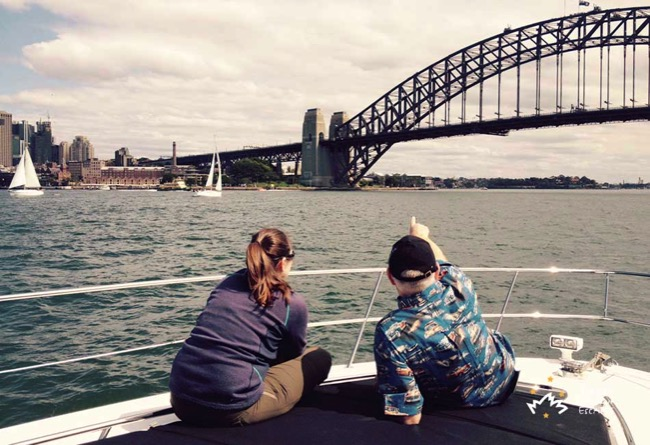 Iluka Enjoying on Sydney Harbour
