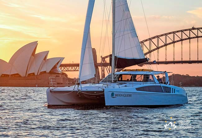 MOON GLIDER 41' Sailing Catamaran Australia Day Charter