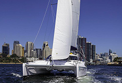 MOON GLIDER  41' Sailing Catamaran Wedding Charter