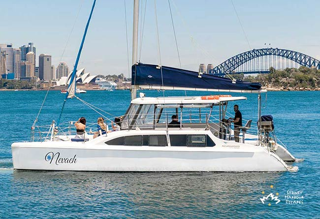 Nevaeh boat Cruising Sydney Harbour