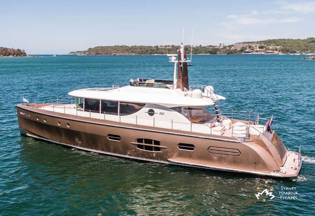 NISI 82' NISI Superyacht Luxury Boat Hire Sydney