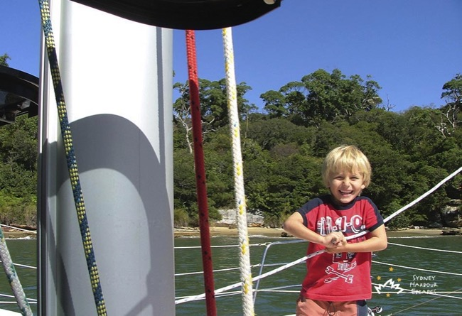 Seawind kid on harbour