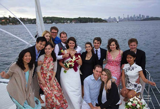 Seawind wedding on harbour