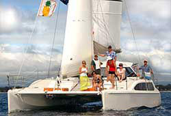 SEABBATICAL 34' Sailing Catamaran New Year's Eve Private Cruise