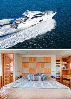 AQUABAY 70' Luxury Sports Yacht Overnight Charter