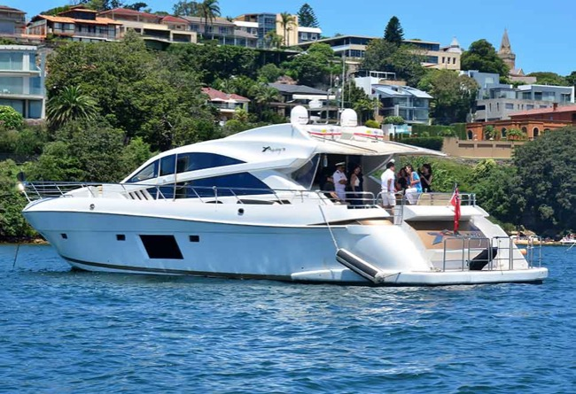 AQUABAY 70 Luxury Sports Yacht Australia Day Cruises