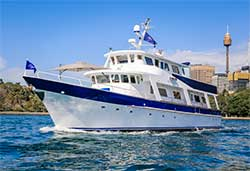 ARISTON 80' Motor Yacht New Years Day Cruises Sydney Harbour