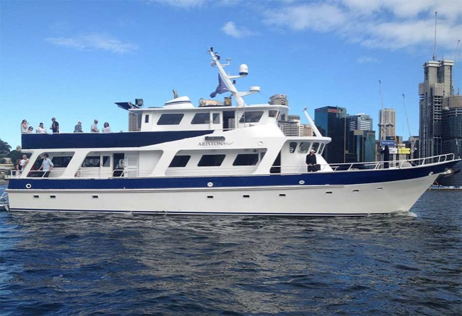 ARISTON 80' Motor Yacht Australia Day Cruises Sydney Harbour