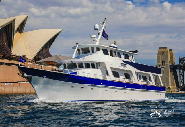 Ariston 1 Boat Charter Sydney Harbour Escapes  copy 4