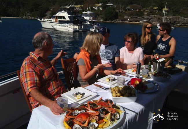Calypso Guests Having Lunch