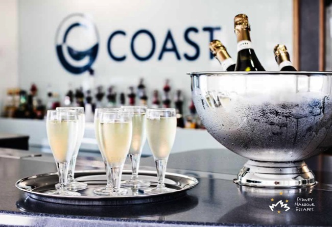 Coast bubbly on ice