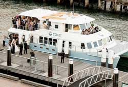 Coast wedding cruise