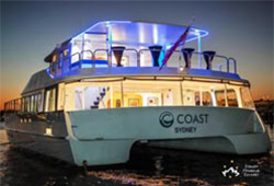 Coast night stern view