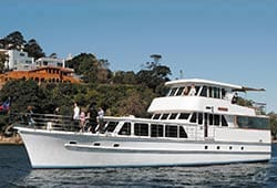 COMMISSIONER II 80' Classic Motor Yacht Wedding Cruises
