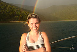 Rainbow at the background in Whitsundays