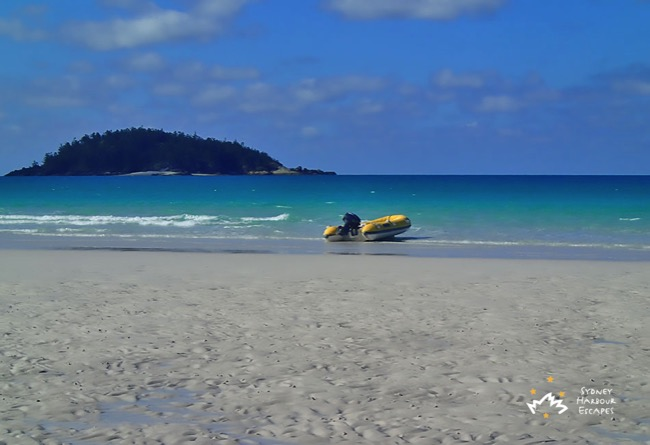 Tender boat on Whitsundays