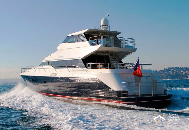 ELEMENT Element Boat Hire - Superyacht Charter - Sydney Harbour Escapes