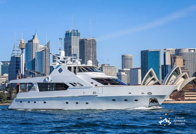 GALAXY I Galaxy I Boat Hire - Superyacht Charter - Sydney Harbour Escapes