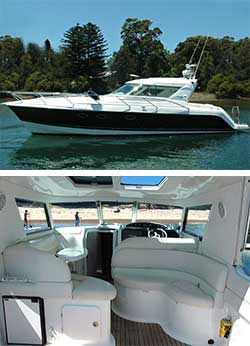 INCEPTION 36' Genesis Power Cruiser Overnight Boat Stay