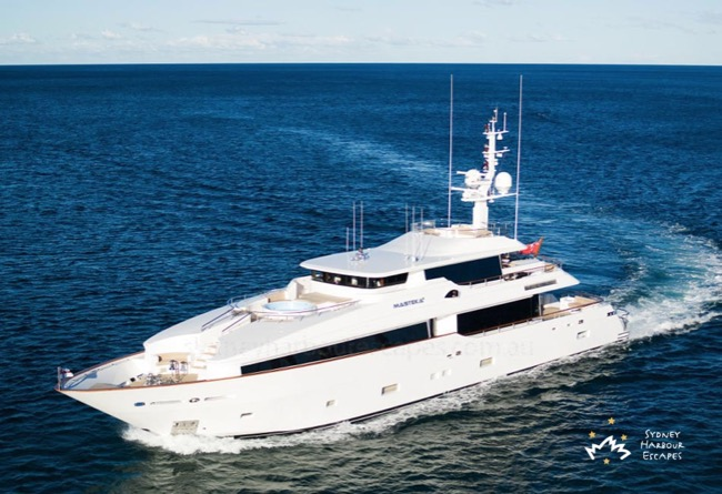 MASTEKA 2 122' 3 Level Superyacht Australia Day Charter
