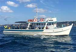 MYSTERY BAY 60' Classic Timber Motor Boat Fishing Charter