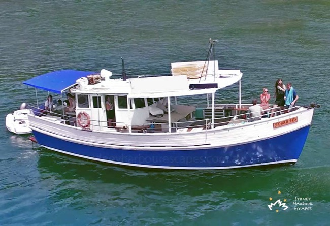 NORTH SEA 42' Classic Timber Motor Boat Australia Day Charter