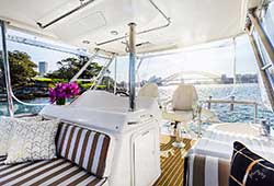 Ocean Blue Flybridge Seating