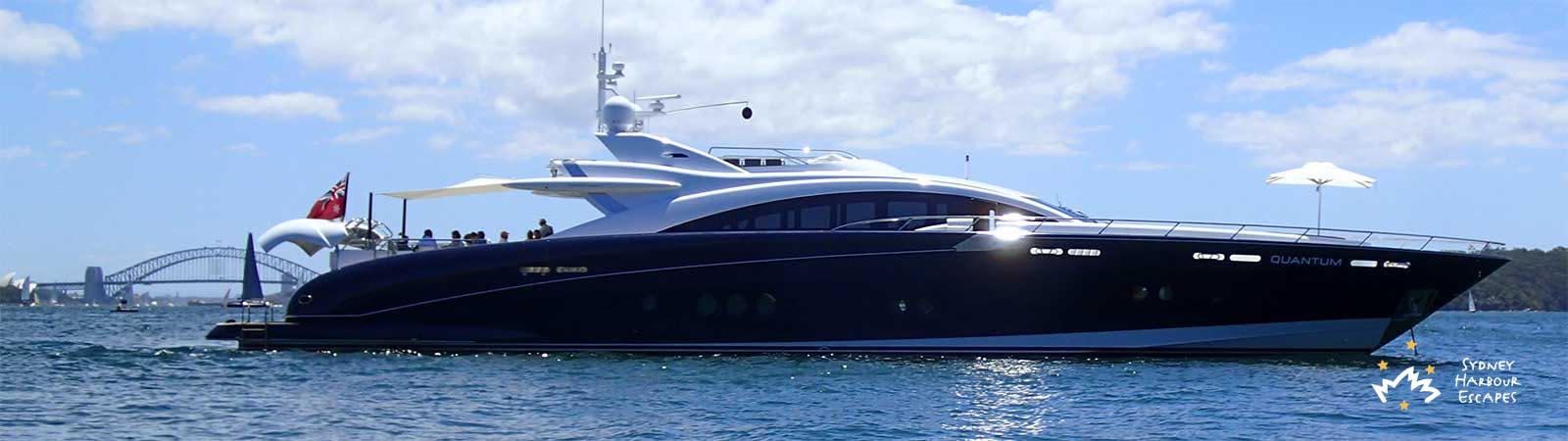 Quantum Boat Hire Luxury Superyacht Charter Sydney Harbour