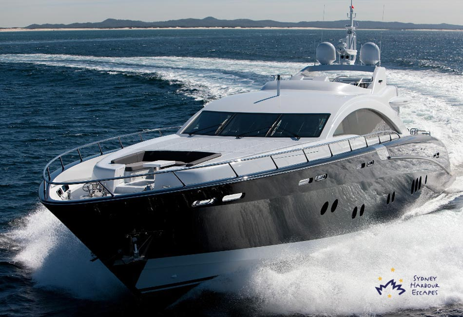 QUANTUM 120' Warren Superyacht Australia Day Boat Hire