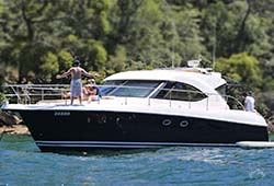 SEADUCED 55' Riviera 4700 Sports Yacht Wedding Charter