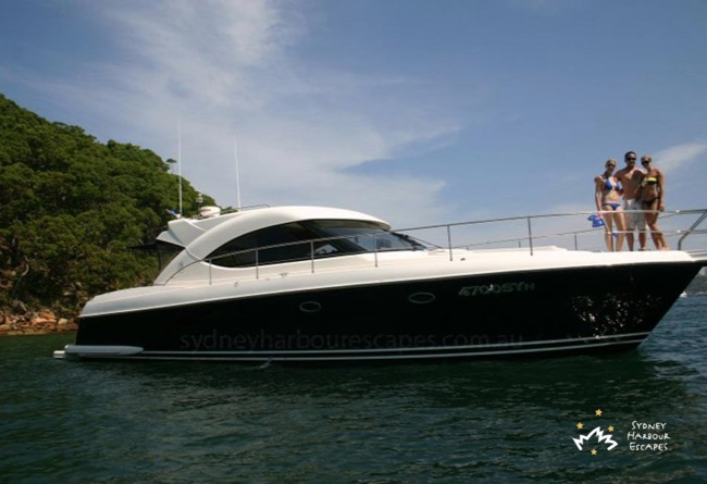 SEADUCTION  55' Riviera 4700 Sports Yacht Australia Day Charter