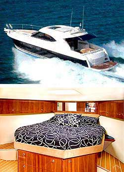 SEADUCTION  55' Riviera 4700 Sports Yacht Overnight Charter