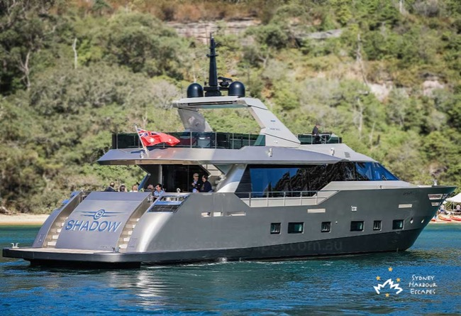 SHADOW Shadow Boat Hire - Luxury Superyacht Charter - Sydney Harbour