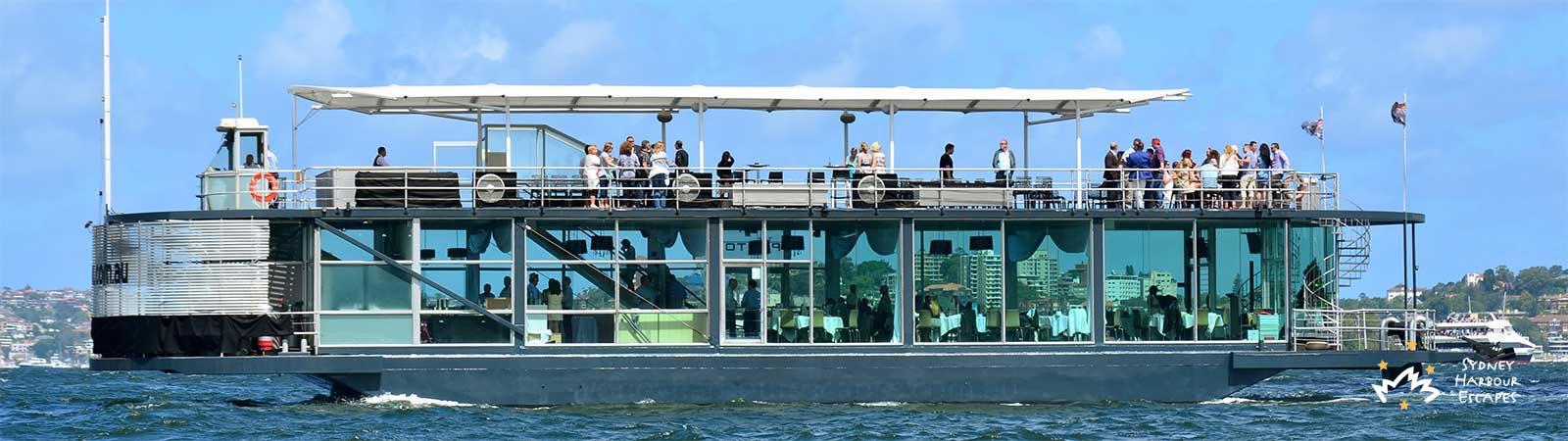 Starship Aqua Boat At Sydney Harbour