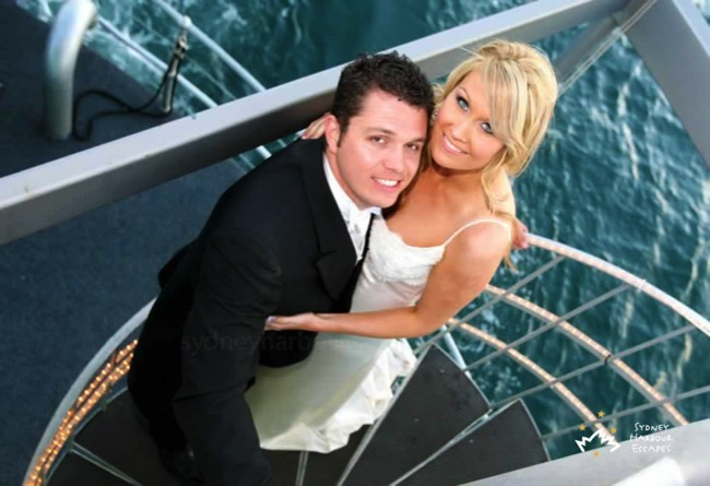 The Pontoon bride groom staircase
