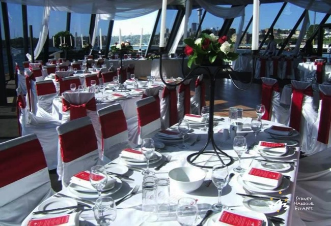 Starship Sydney table setting