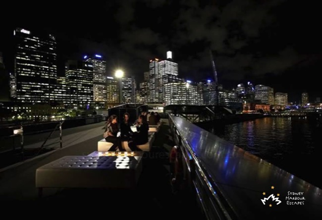 Starship Sydney night harbour