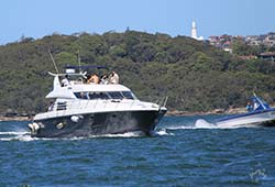 Sunseeker Cruising Sydney Harbour