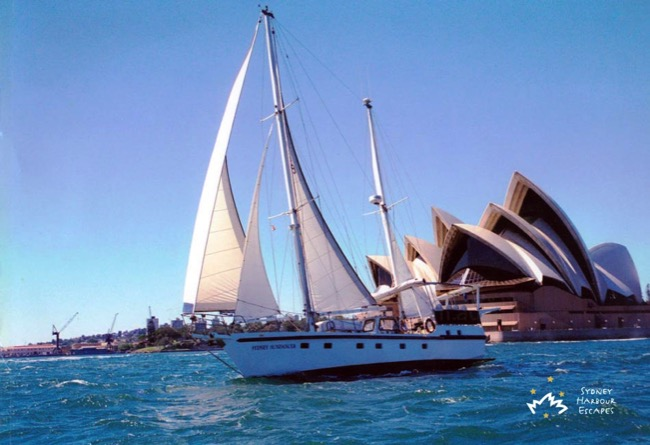 Sydney Sundancer sailing Harbour