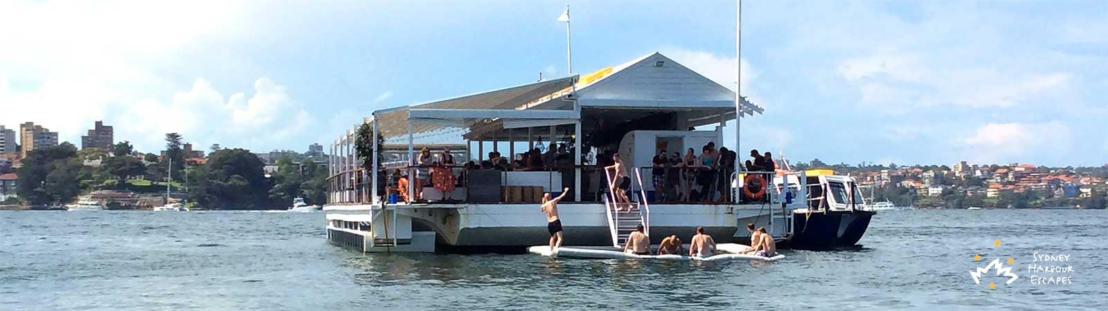 The Island boat - People enjoying