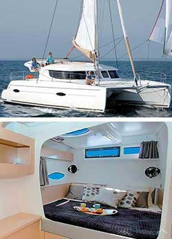 TOO UP 41' Lipari Luxury Sailing Catamaran Overnight Charter