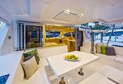 Verve boat open plan entertaining areas